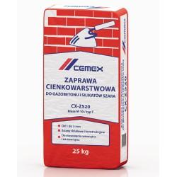 Zaprawa cienkowarstwowa do gazobetonu i silikatów szara CX-Z520 25kg