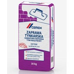 Zaprawa tynkarska cementowo-wapienna – tynk maszynowy CX-T550 30kg